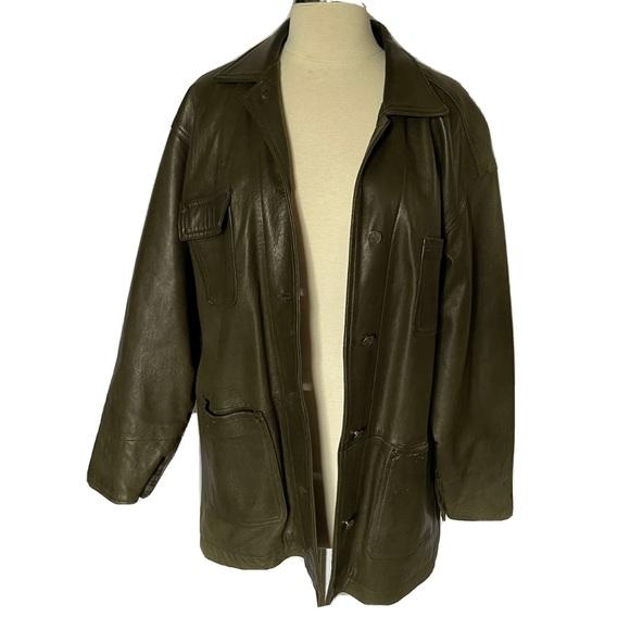 M. Julian B. free Soft Calf Leather Green Jacket